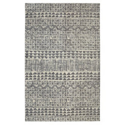 Billerica Gray Shag Area Rug, 5x8