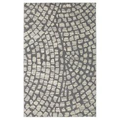 Cohasset Gray Shag Area Rug, 5x8