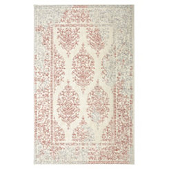 Paxton Coral Shag Area Rug, 5x8