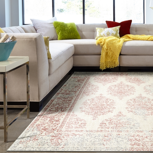 Paxton Coral Shag Area Rug
