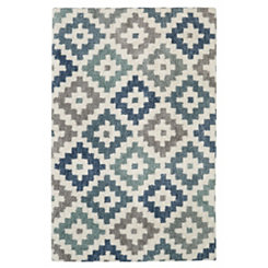 Beige Diamond Head Shag Area Rug, 8x10