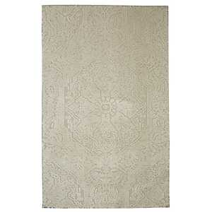 Francesca Cream Shag Area Rug, 8x10