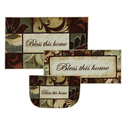 Bless This Home Accent Rugs, Set of 3
