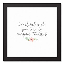 Amazing Things Framed Canvas Art Print