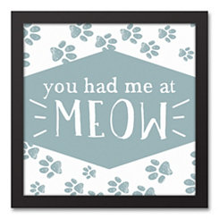 You Had Me at Meow Framed Canvas Art Print