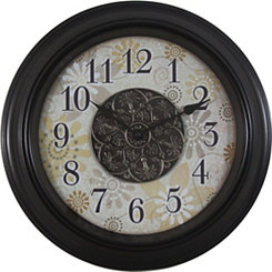 Ornate Resin Floral Wall Clock