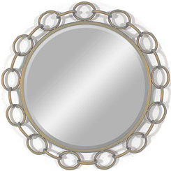 Champagne Chain Link Beveled Wall Mirror