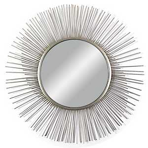Silver Wire Spoke Wall Mirror