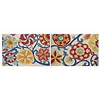Suzani Splendor Canvas Art Prints, Set of 2