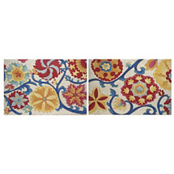 Suzani Splendor Canvas Art Prints, Set of 2