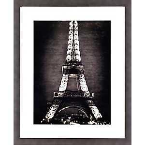 Black and White Eiffel Tower Framed Art Print