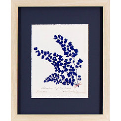 Indigo Fern Framed Art Print