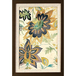 Damask Florals Framed Art Print