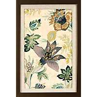 Floral Brocade Framed Art Print