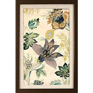 Floral Brocade Framed Art Print