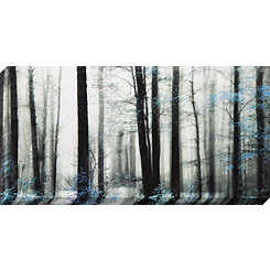 Black And Blue Trees Canvas Art Print