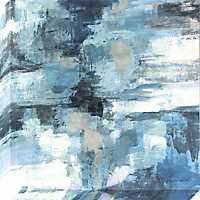Indigo Abstract Canvas Art Print