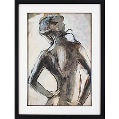 Sketched Watercolor Figure Framed Art Print