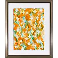 Overlapping Orange Framed Art Print