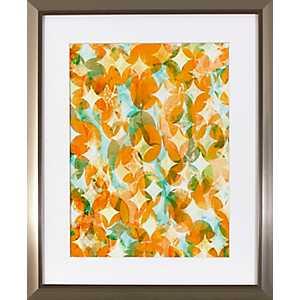 Overlapping Orange Framed Art Print