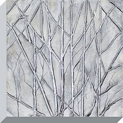 Metallic Trees Canvas Art Print