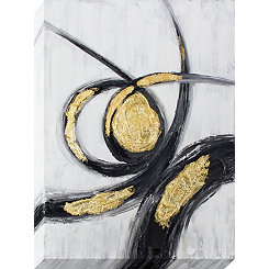 Gold and Black Gestures Canvas Art Print