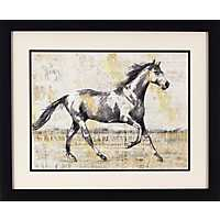 Trotting Horse Framed Art Print