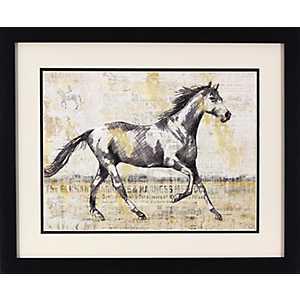 Trotting Horse Framed Art Print