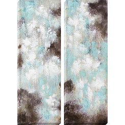 Dawn and Dusk Canvas Art Prints, Set of 2