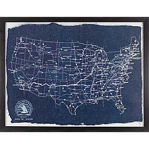 Blueprint of America Framed Art Print