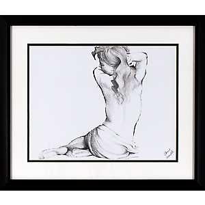 Sketched Figure Framed Art Print