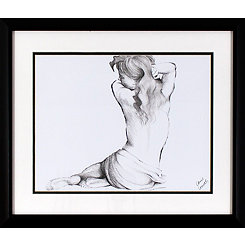 Sketched Figure Framed Art Print
