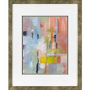 Blushing Abstract Framed Art Print