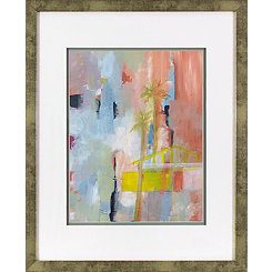 Blushing Abstract Framed Art Print