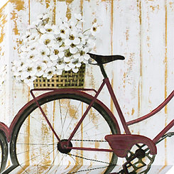 Vintage Bike with Flowers Canvas Art Print