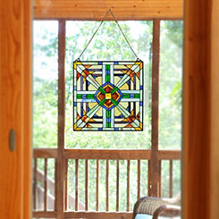Southwest Stained Glass Panel Plaque