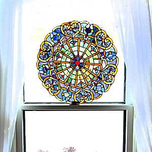 Webbed Heart Stained Glass Panel Plaque
