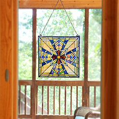 Northern Star Stained Glass Panel Plaque