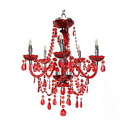 Royal Red Cordless LED Chandelier