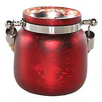 Pre-Lit Red Star Mercury Glass Decorative Jar