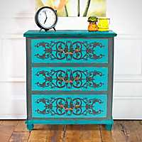 Peacock Blue 3-Drawer Cabinet