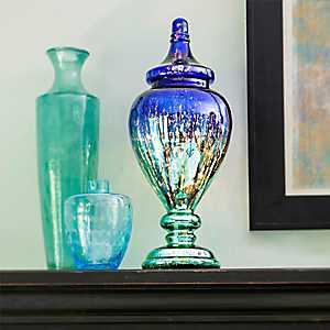 Meadowlark Mercury Glass Pre-Lit Ginger Jar