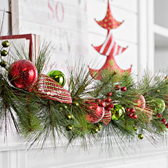 Red and Green Merry Garland