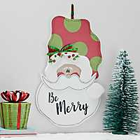 Santa Be Merry Wooden Wall Plaque