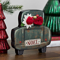 Noel Truck Block With Felt Flower