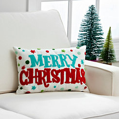 Colorful Merry Christmas Pillow