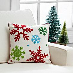 Multicolor Snowflakes Pillow