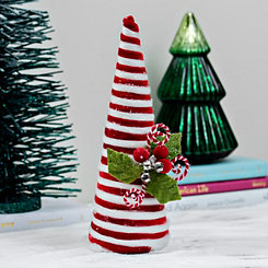Striped Cotton Candy Cane Tree, 13 in.