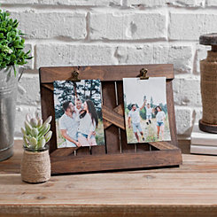 Natural Wood Barn Door Clip Collage Frame