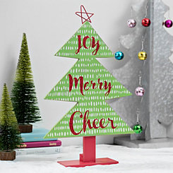 Joy Merry Cheer Tabletop Christmas Tree